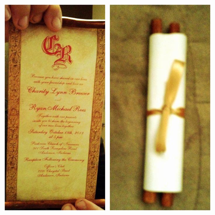 Diy Scroll Invitation Kit Beautiful Diy Wedding Scroll Invitations