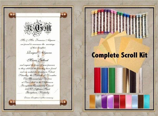 Diy Scroll Invitation Kit New Plete 25 Pc 8 Inch Diy Scroll Invitation Kit by Inkcurves