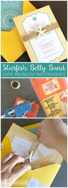 Diy Wedding Invitation Belly Band Awesome 1000 Images About Diy Wedding Tutorials On Pinterest