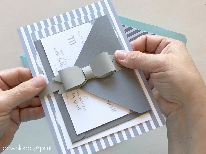 Diy Wedding Invitation Belly Band Awesome Diy Bow Tie Belly Band