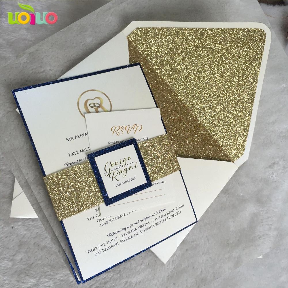 Diy Wedding Invitation Belly Band Awesome Diy Customize 10pcs Laser Cut Wedding Invitations Card