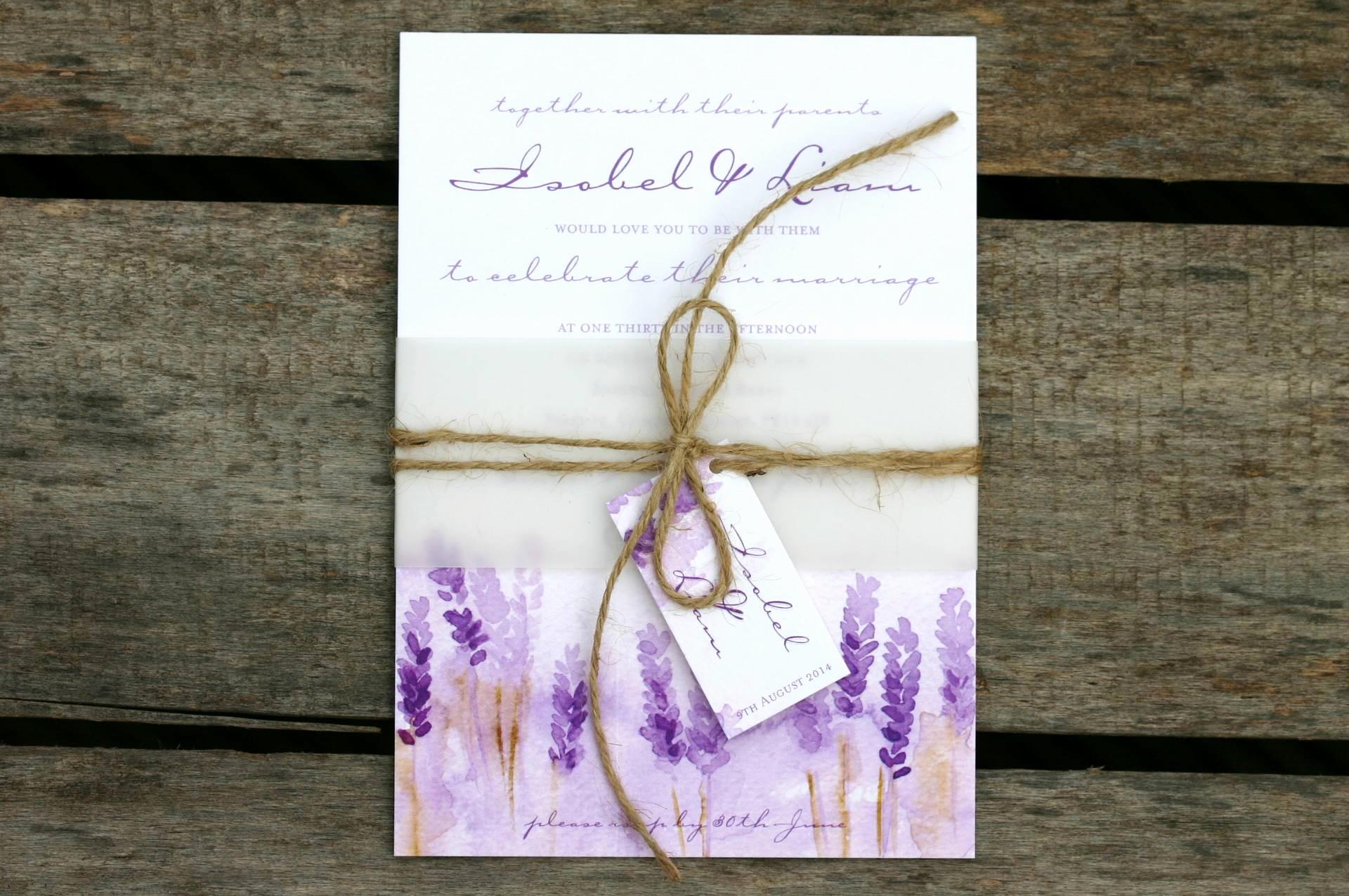 Diy Wedding Invitation Belly Band Beautiful Lovely Lavender Wedding Ideas with Ivy Ellenivy Ellen