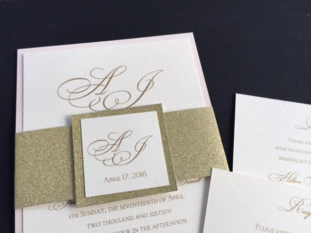 sample glitter wedding invitations glitter belly bands glitter wedding invitation blush wedding invitation blush and gold invitation