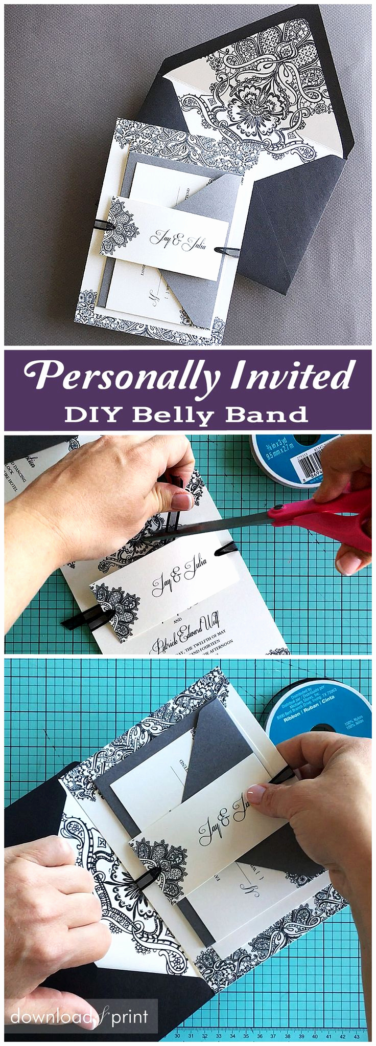 Diy Wedding Invitation Belly Band Inspirational 25 Best Ideas About Belly Bands On Pinterest