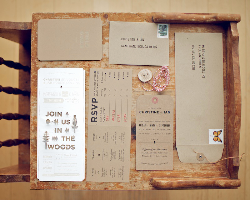 Diy Wedding Invitation Idea Awesome Christine Ian S Diy Lasercut Woodland Wedding Invitations