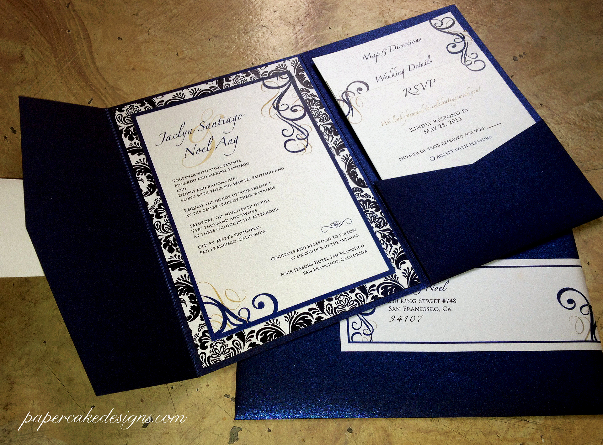 Diy Wedding Invitation Idea Beautiful [diy Print & assemble] Wedding Invitations – Papercake