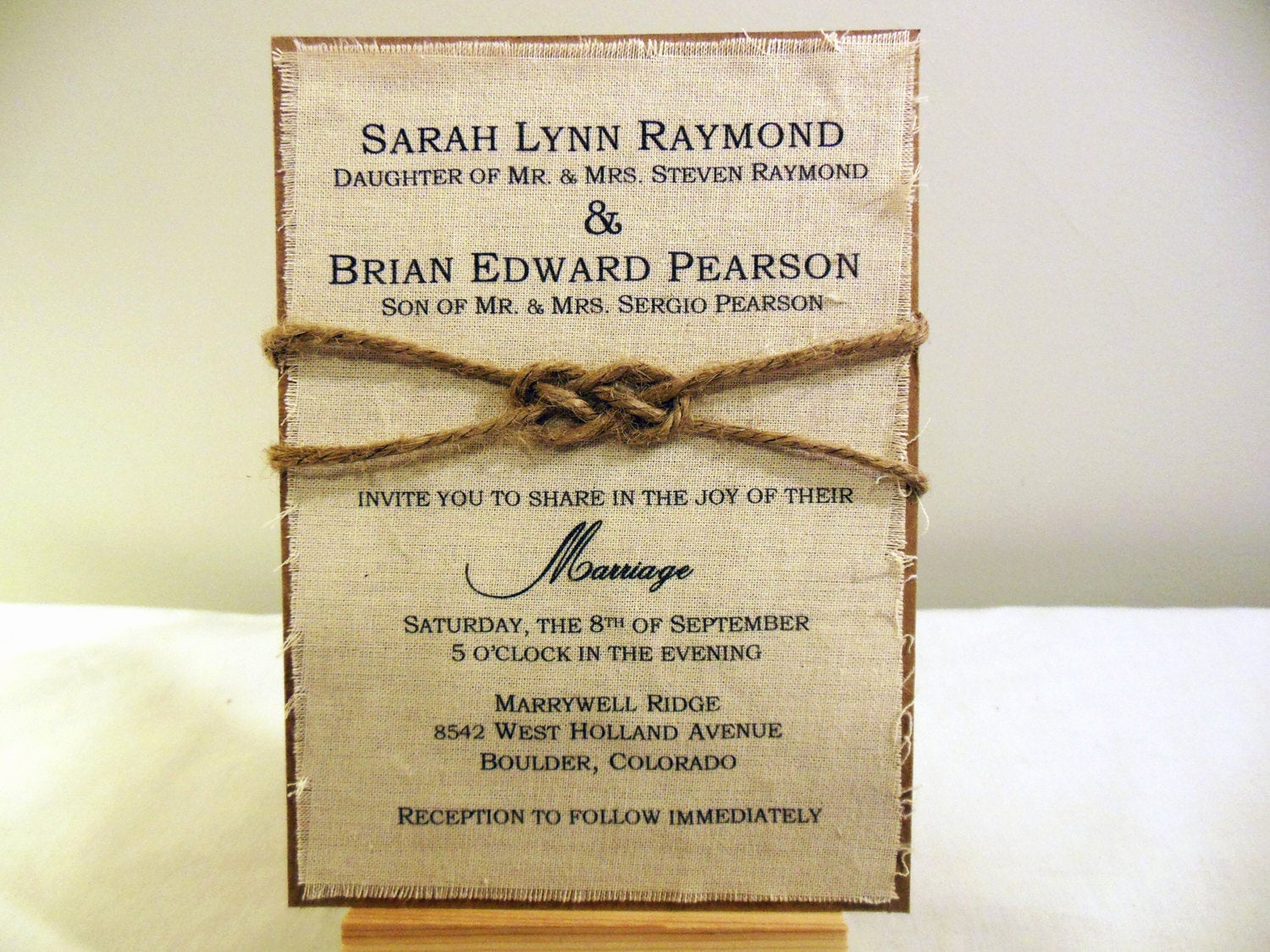 Diy Wedding Invitation Idea Best Of Diy Rustic Wedding Invitation Kit Burlap Fabric Rustic