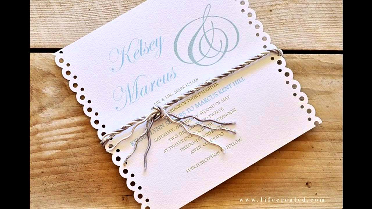 Diy Wedding Invitation Idea Inspirational Easy Simple Diy Wedding Invitation Ideas