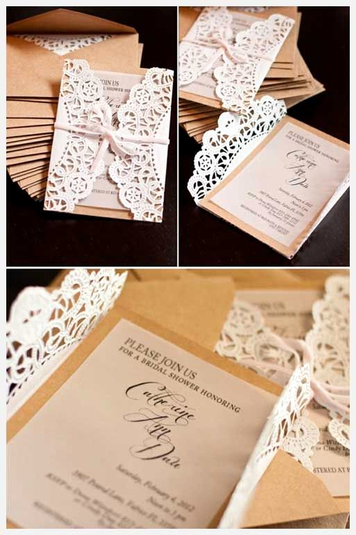 Diy Wedding Invitation Ideas Inspirational Lace Doily Diy Wedding Invitations Casamento