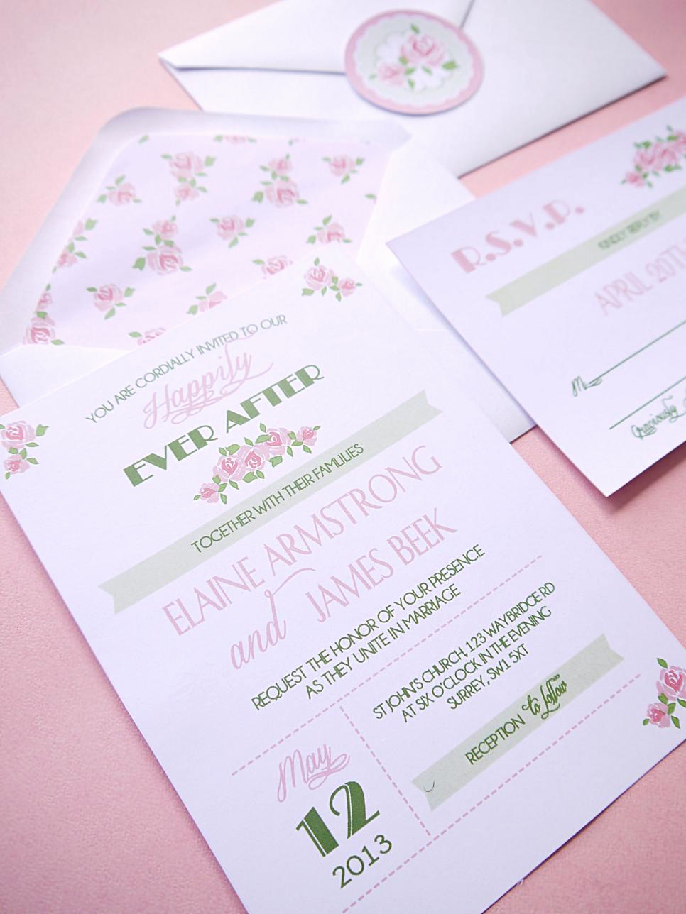 Diy Wedding Invitation Ideas Lovely Romantic Diy Wedding Ideas