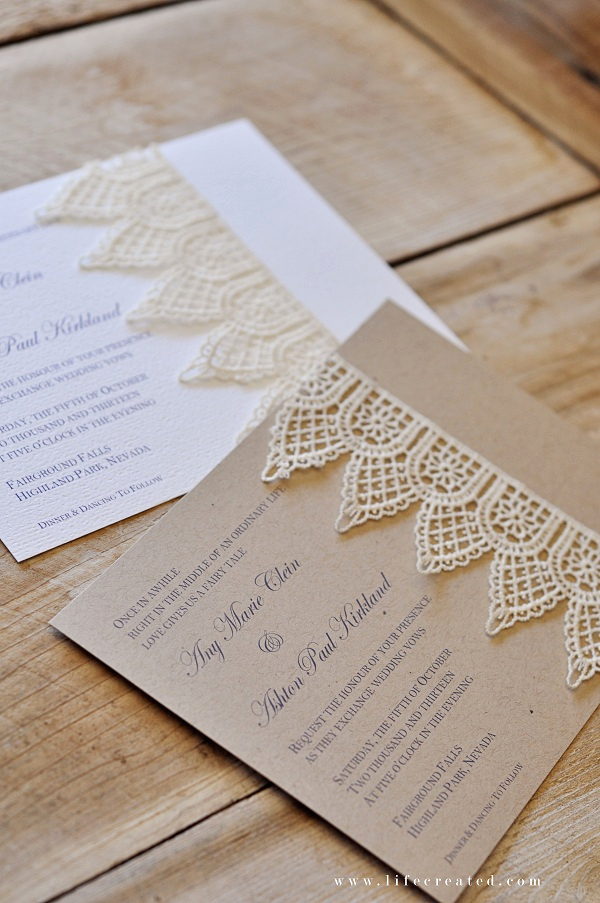 Diy Wedding Invitation Ideas Luxury Craftaholics Anonymous