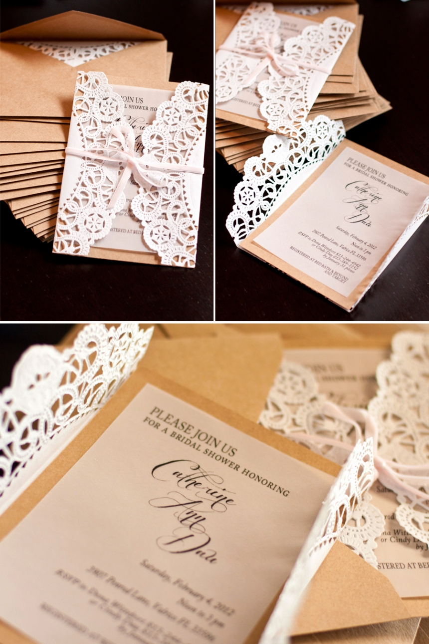 Diy Wedding Invitation Ideas Luxury Elegant Country Bridal Shower Invitations Tutorial
