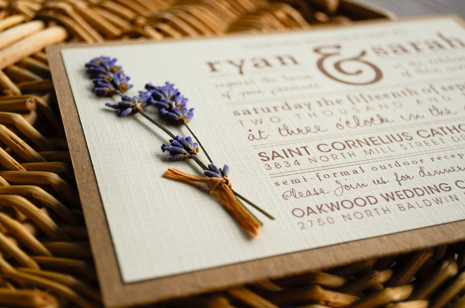 diy rustic wedding invitation suite