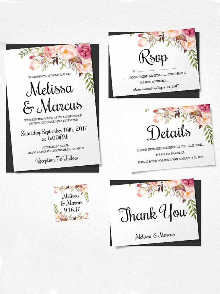 Diy Wedding Invitation Templates Awesome 16 Printable Wedding Invitation Templates You Can Diy