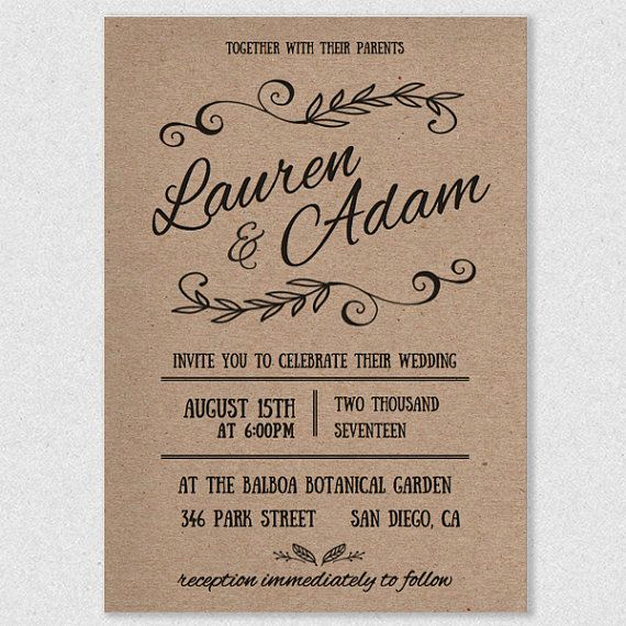 Diy Wedding Invitation Templates Awesome 17 Best Ideas About Printable Wedding Invitations On