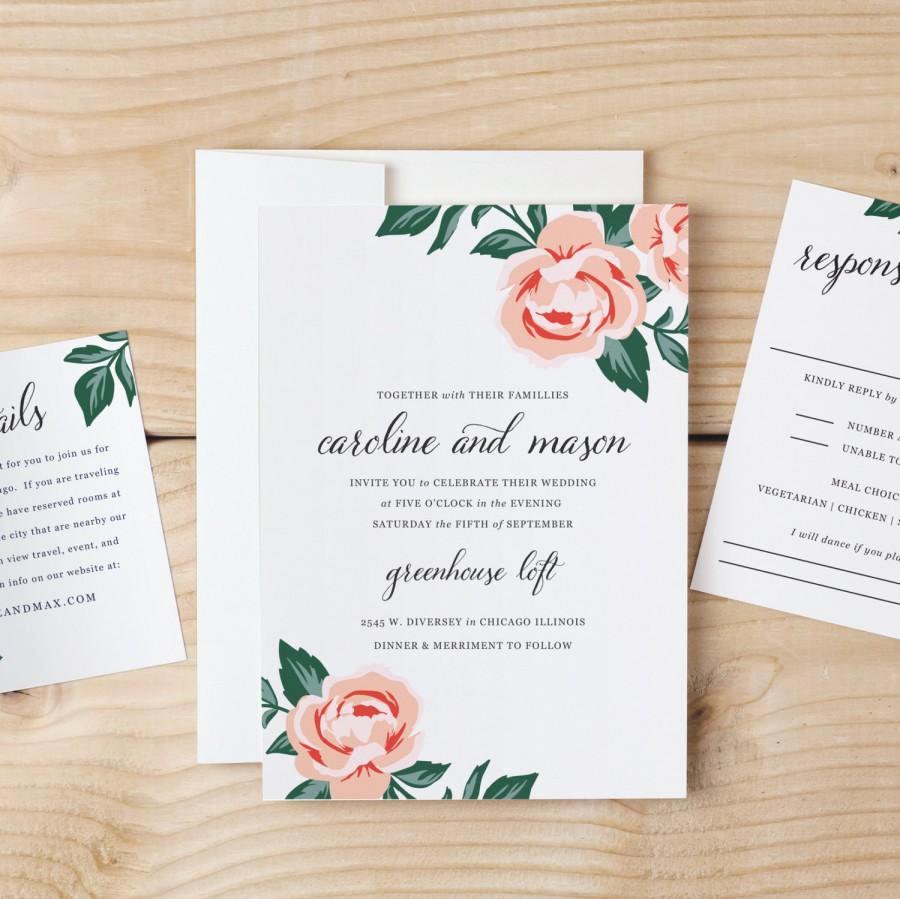 Diy Wedding Invitation Templates Best Of Diy Wedding Invitation Template Colorful Floral Word