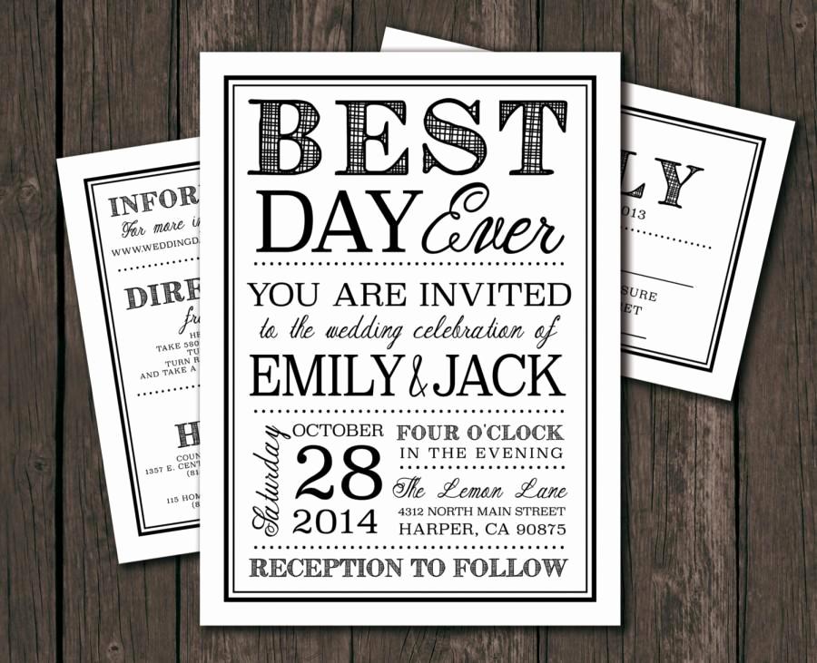 Diy Wedding Invitation Templates Elegant Moder Wedding Invitation Template Printable Diy Wedding
