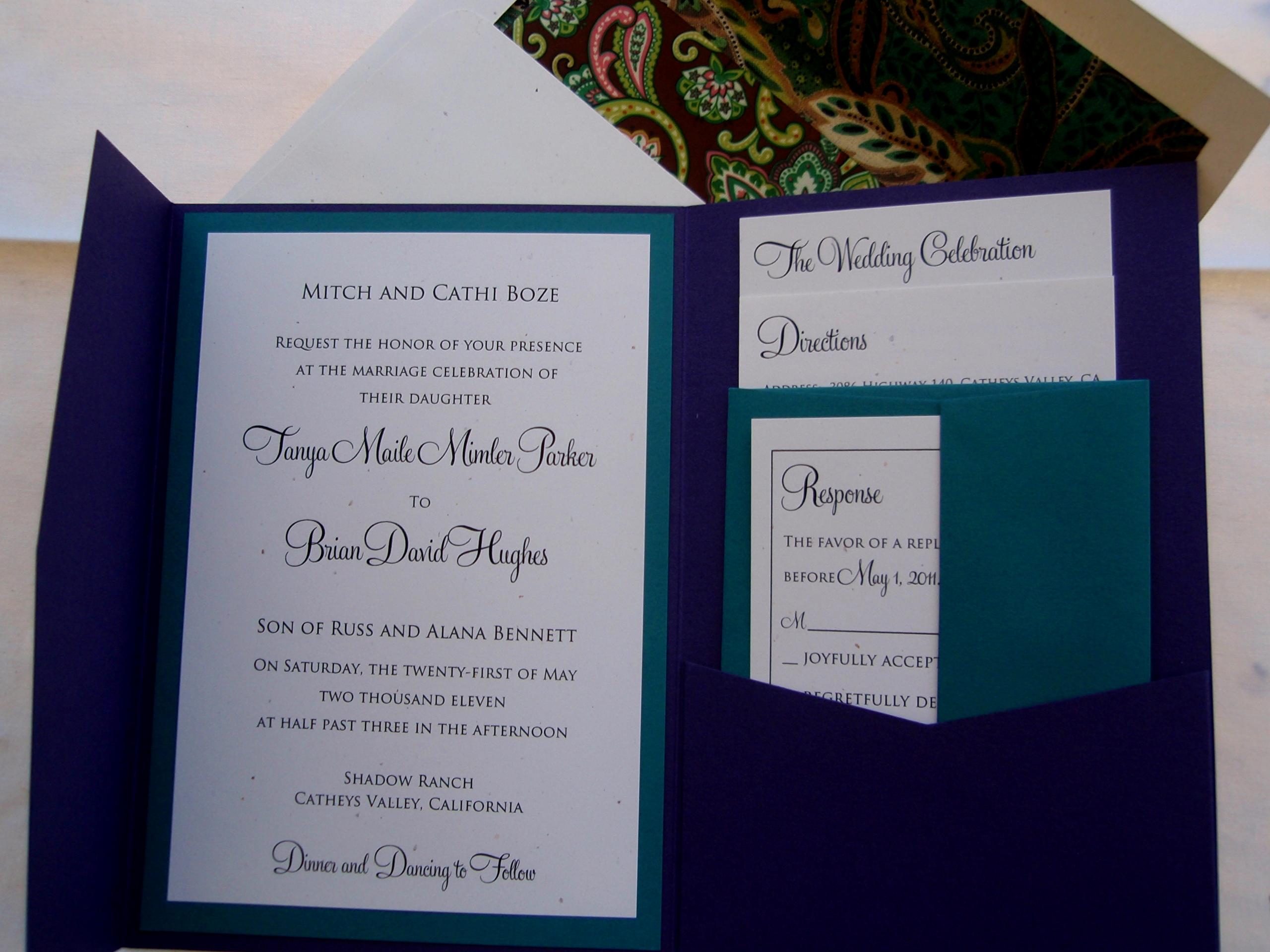 Diy Wedding Invitation Templates New Diy Pocketfold Invitations