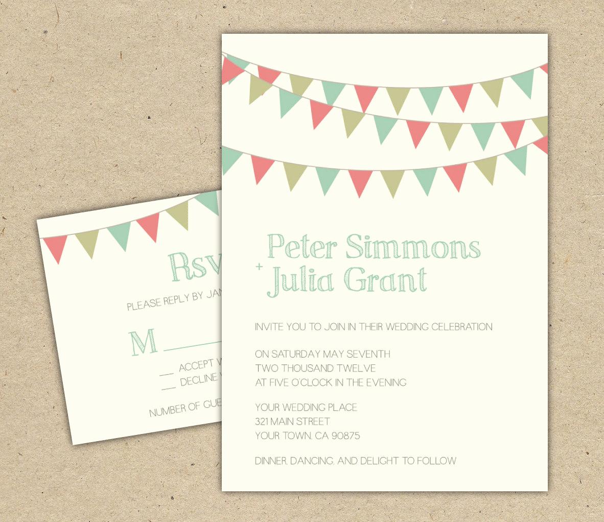 Diy Wedding Invitation Templates Unique Items Similar to Wedding Invitation Diy Printable