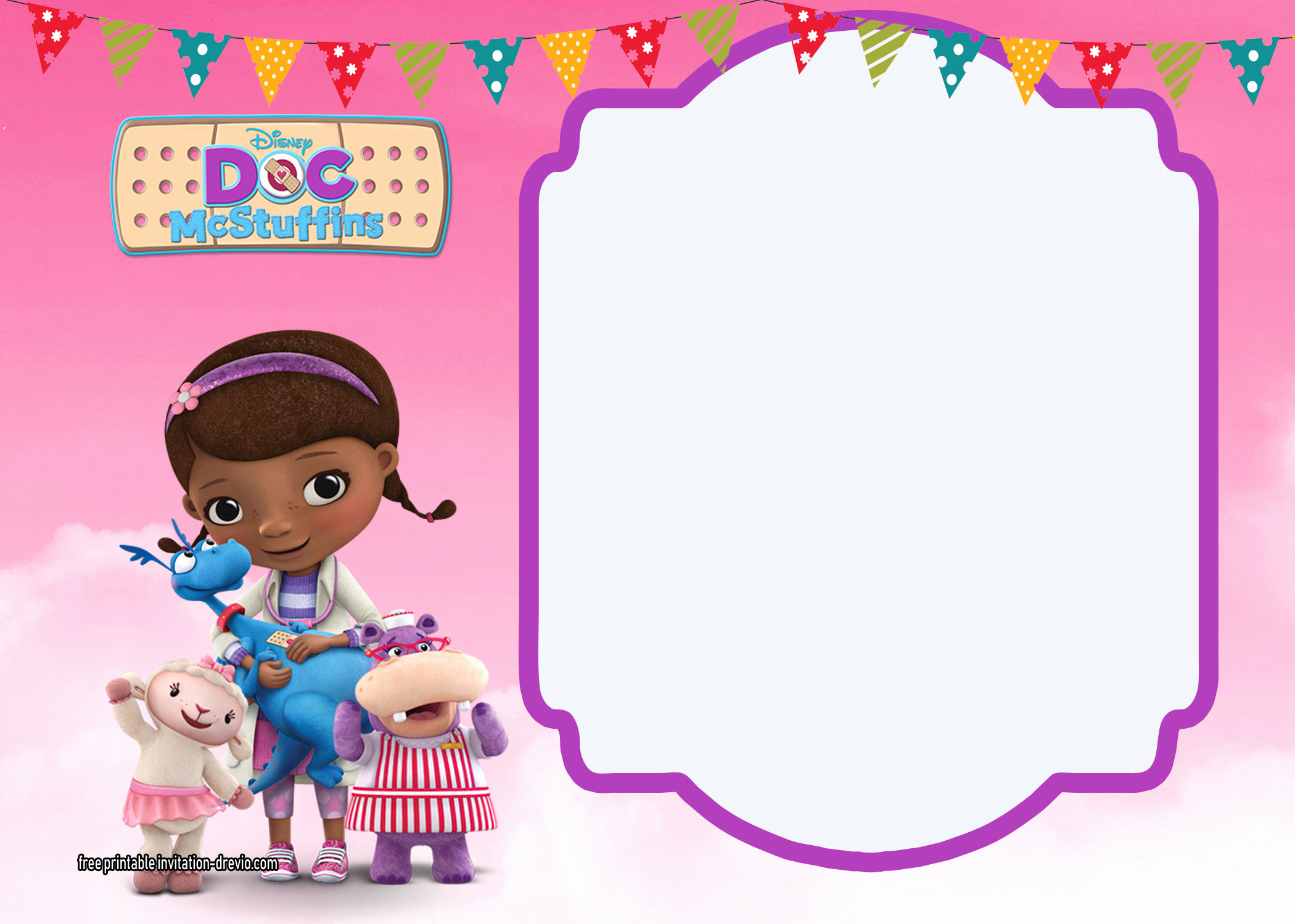 Doc Mcstuffin Invitation Template Best Of Doc Mcstuffins Birthday Invitation Templates Free