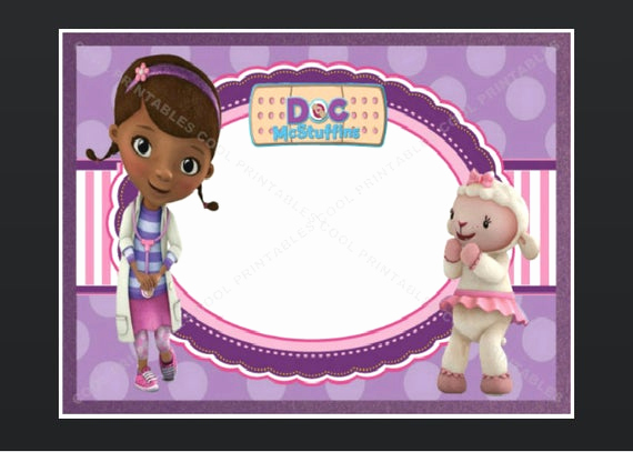 Doc Mcstuffin Invitation Template Elegant Doc Mcstuffins Blank Invitation Birthday Thank by