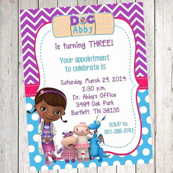 Doc Mcstuffin Invitation Template Elegant Free Doc Mcstuffins Invitations Cobypic
