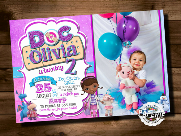 Doc Mcstuffin Invitation Template Inspirational 26 Birthday Invitation Templates Psd Vector Eps