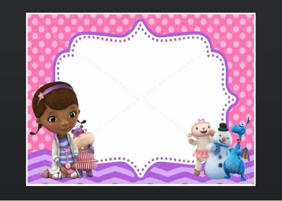 Doc Mcstuffin Invitation Template Lovely Doc Mcstuffins Blank Invitation Birthday Thank by