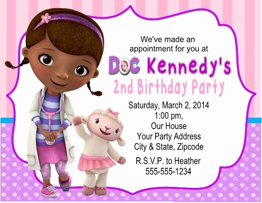 Doc Mcstuffin Invitation Template Luxury Doc Mcstuffins Invitations Template