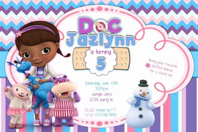 Doc Mcstuffins Birthday Invitation Template Awesome Doc Mcstuffins Invitations