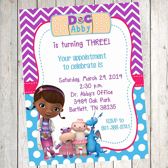 Doc Mcstuffins Birthday Invitation Template Awesome Doc Mcstuffins Party Ideas