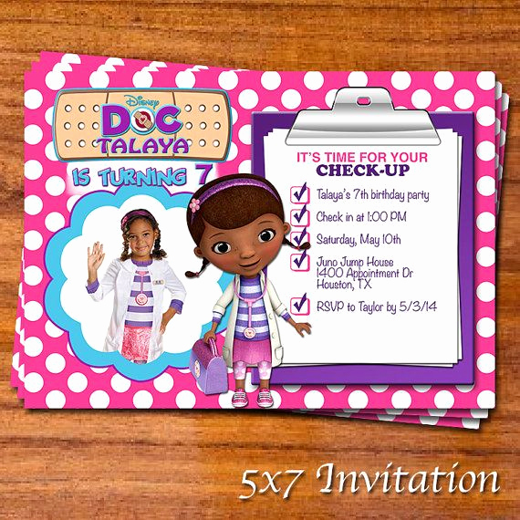 Doc Mcstuffins Birthday Invitation Template Lovely 20 Best Party Mcstuffins Invites & Thank You Notes Images