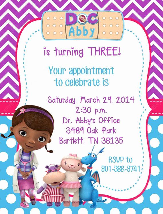 Doc Mcstuffins Birthday Invitation Template Luxury 10 Printed Doc Mcstuffins Invitations with by Bethcloud723