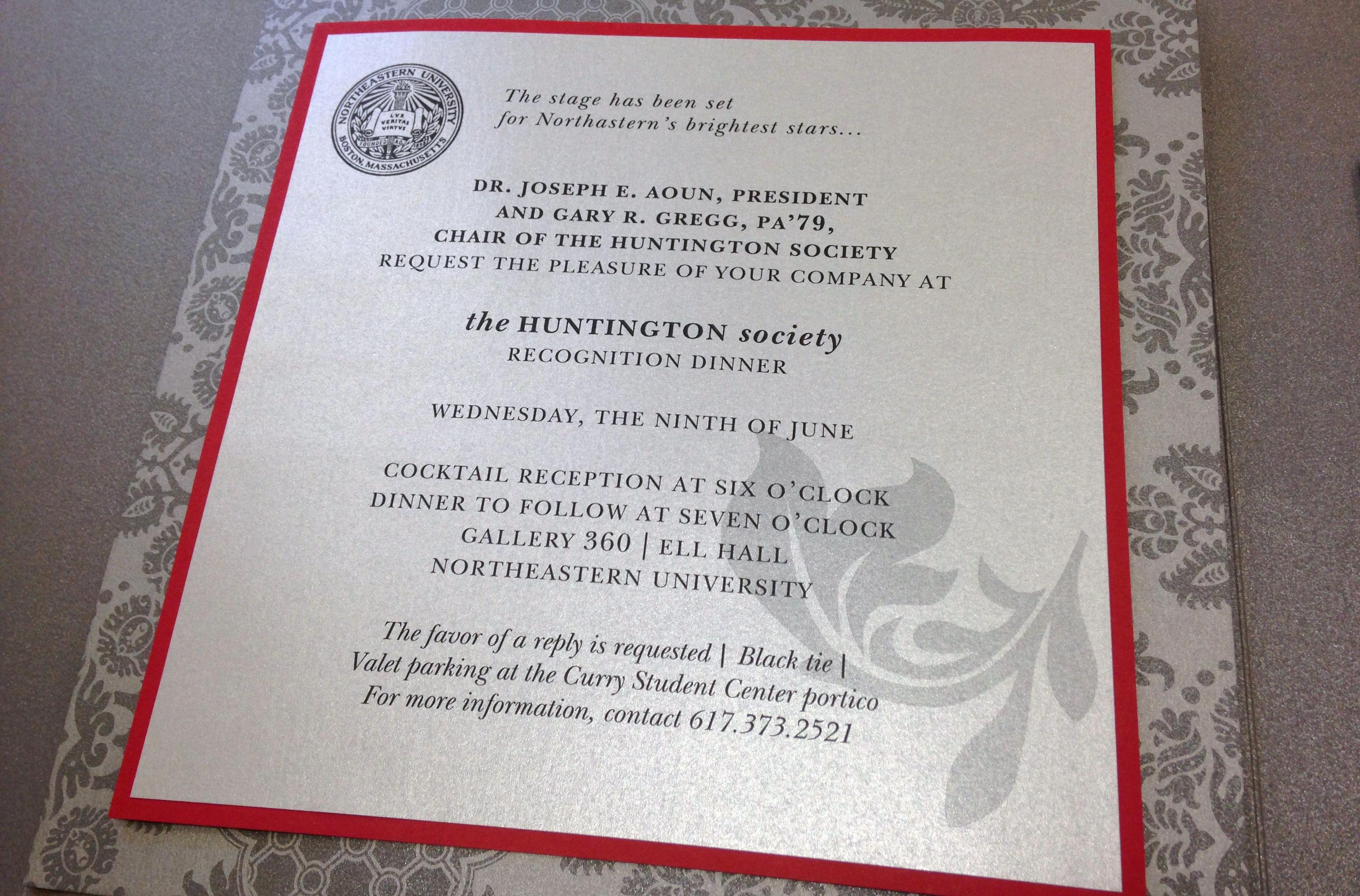Donor Appreciation event Invitation Best Of Huntington society Recognition Dinner Invitation