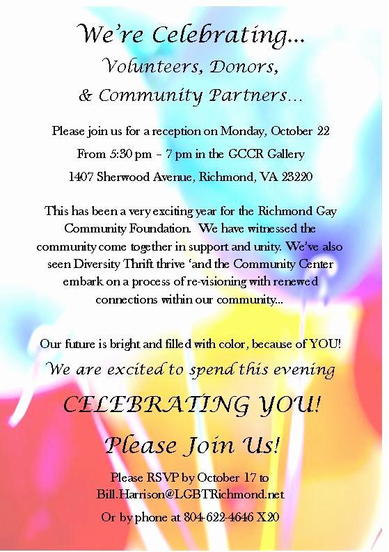 donor appreciation events receptions invitations