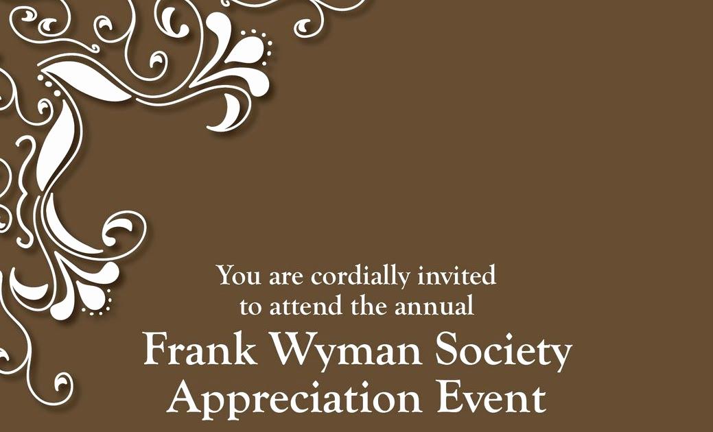 Donor Appreciation event Invitation New Melissa Wilsford Design Appreciation event Invite