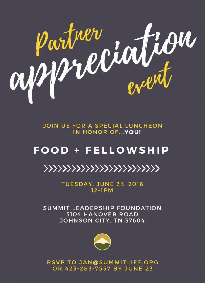 Donor Appreciation event Invitation Unique Partner Appreciation event