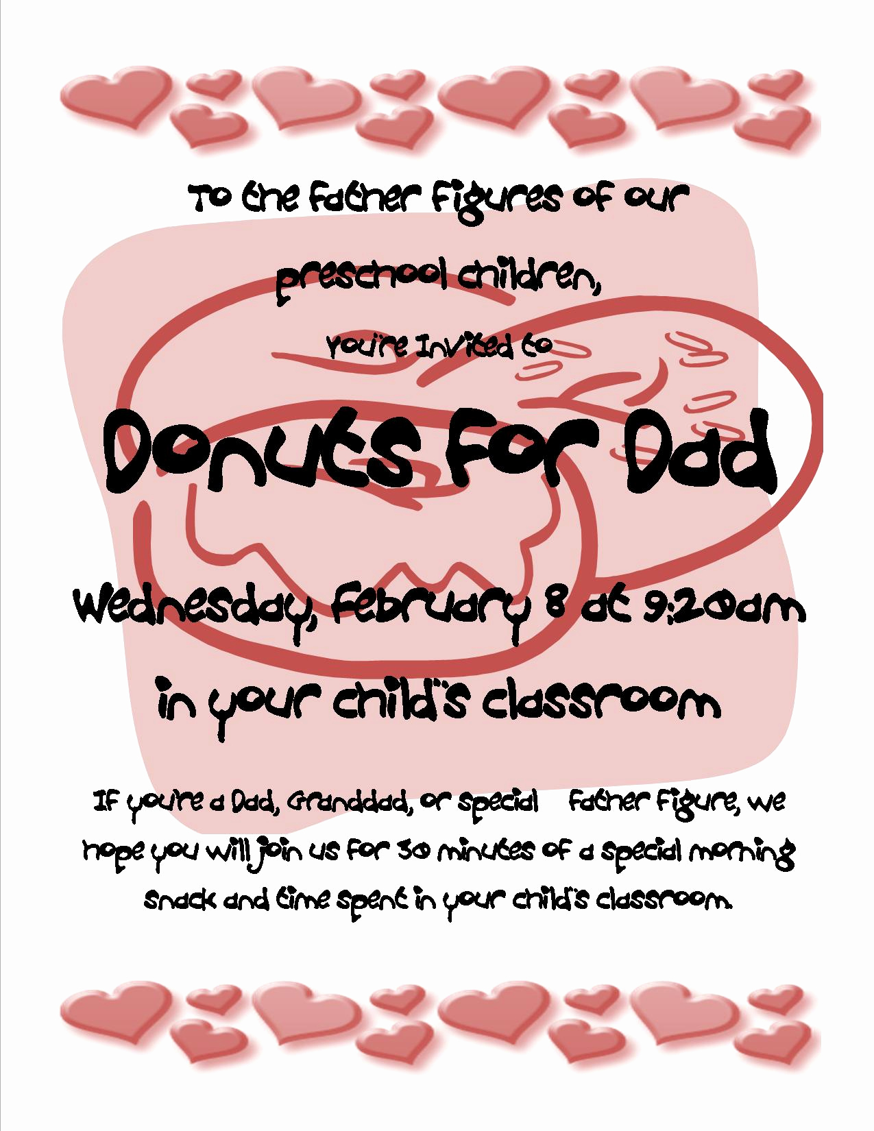 Donuts with Dad Invitation Awesome February 2012