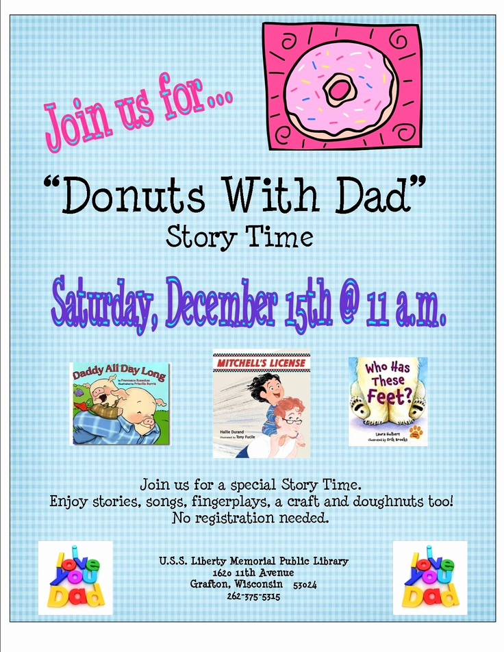 Donuts with Dad Invitation Beautiful Donuts with Dad or Muffins with Mom
