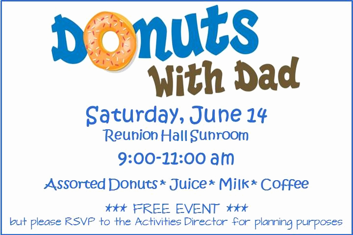 Donuts with Dad Invitation Best Of August Trivia Printables