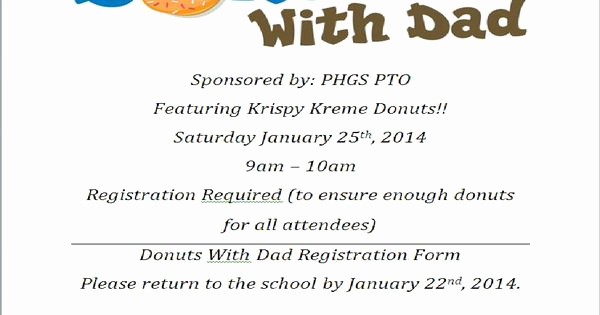 Donuts with Dad Invitation Best Of Donuts with Dad events Donuts with Dad