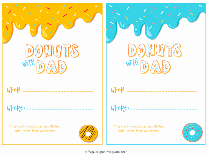 Donuts with Dad Invitation Elegant Free Donuts with Dad Printable Invite