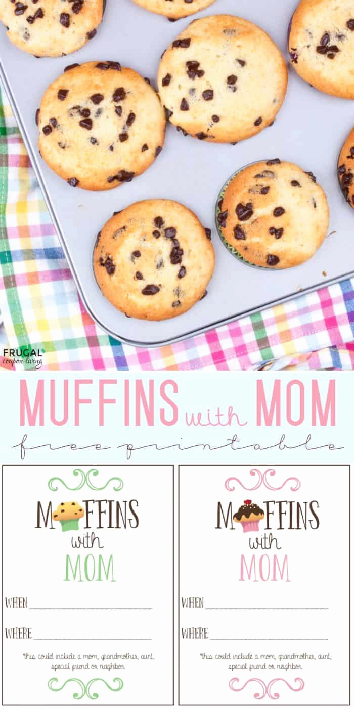 Donuts with Dad Invitation Fresh Muffins with Mom Printable Invite