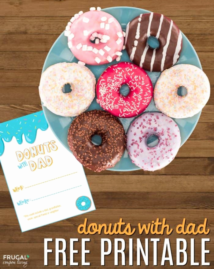 Donuts with Dad Invitation Lovely Free Donuts with Dad Printable Invite