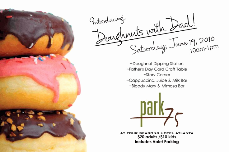 Donuts with Dad Invitation Luxury 16 Best Preschool Doughnut with Dad Images On Pinterest