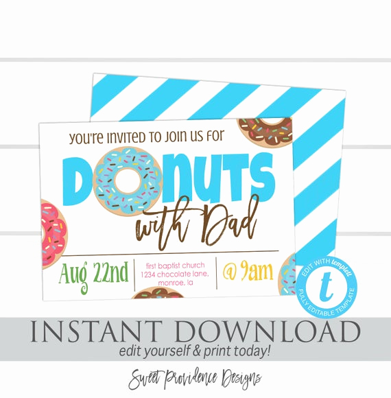 Donuts with Dad Invitation New Donuts with Dad Invitation School Flyer Father S Day