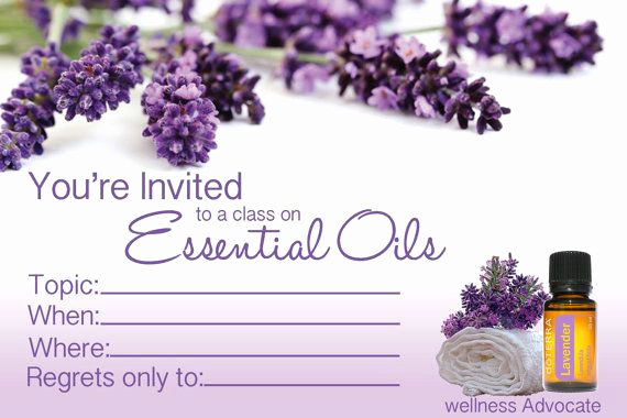 Doterra Essential Oil Class Invitation Fresh 4x6 Doterra Class Invitation Instant Download Printable