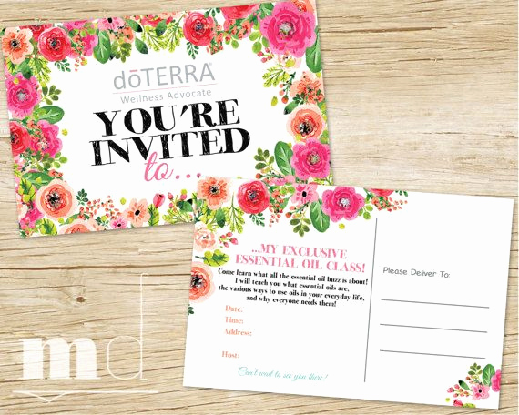 Doterra Essential Oil Class Invitation Fresh Essential Oils Class Invite Custom Doterra Party event