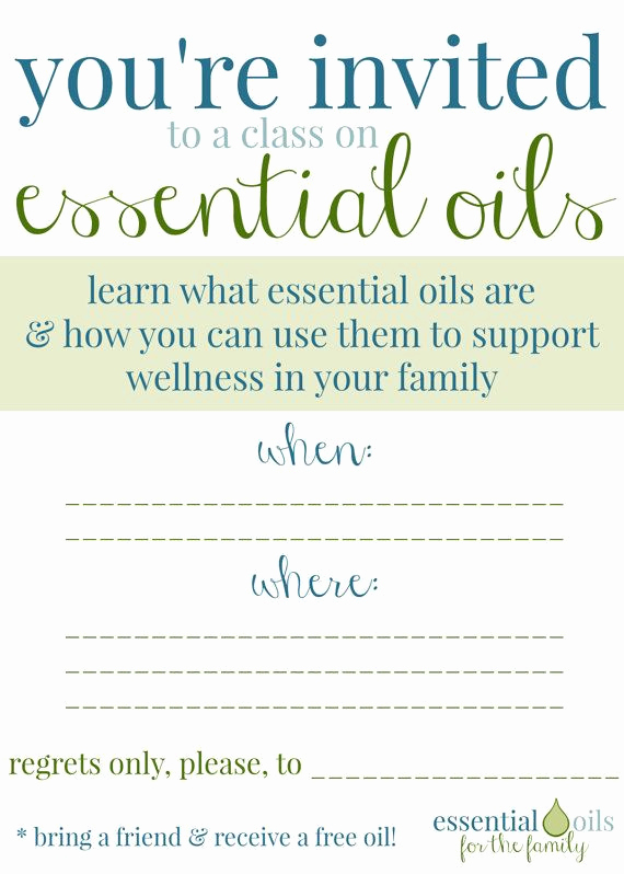 Doterra Essential Oil Class Invitation Lovely Custom Essential Oil Class Invitation by Edropdesigns On