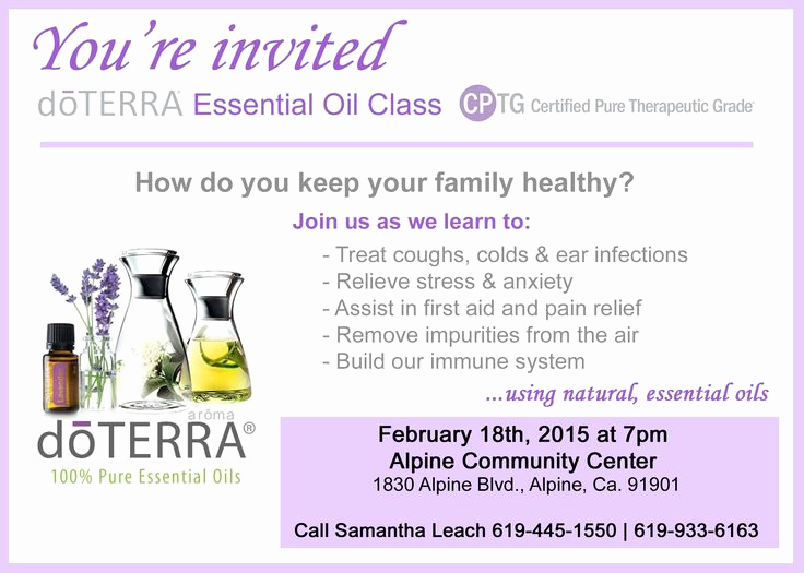 Doterra Essential Oil Class Invitation Luxury 97 Best Images About Oils On Pinterest